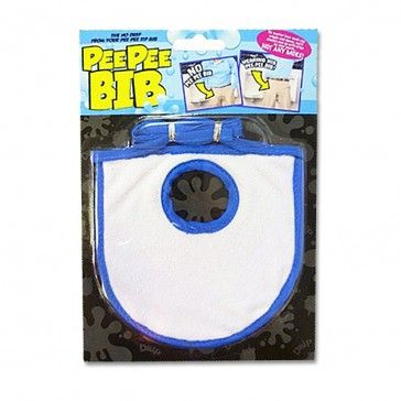 Pee Pee Bib  Accidents happen, but at least now you can prevent that little dribble in your pants showing with this hilarious pee pee bib.