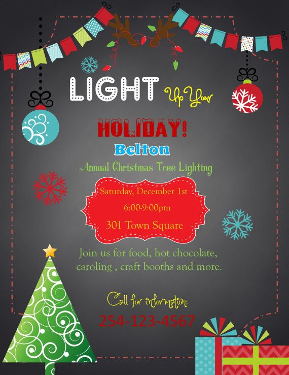 Christmas Holiday  Party flyer invitation Baby Shower  Digital