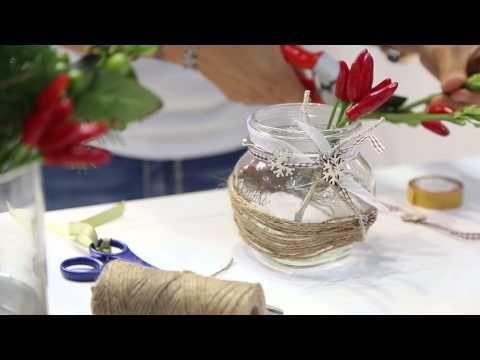 Centrotavola natalizi fai da te: 10+ idee originali con tutorial #spago #vetro