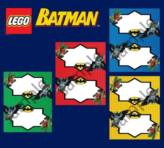 Instant Download Lego Batman Food Tent Food Label Food by PeekaOwl, $3.50