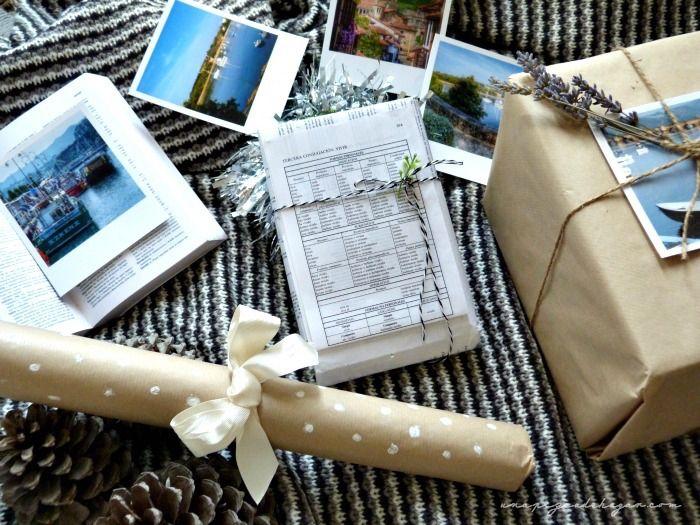 regalos bonitos con materiales de ir por casa. Kraft, cintas, un diccionario, lavanda, : via MIBLOG