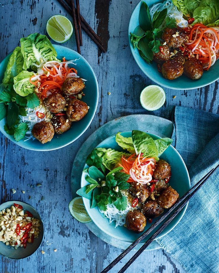 Lemongrass, garlic and lime all contribute to the powerful Vietnamese flavour of this meatball recipe.