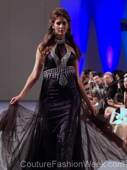 #moteuke #design #model #stil #kvinne #RituBoorgy #mote #couture #fashion #kjole #glitter #diamanter #svart