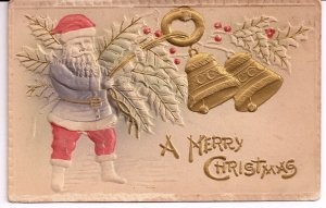 Early 1900s Santa Postcard @ Vintage Touch $8.00Holiday Postcards, Santa Postcards, Christmas Postcards, Postcards Antiques, Postcards Embossing
