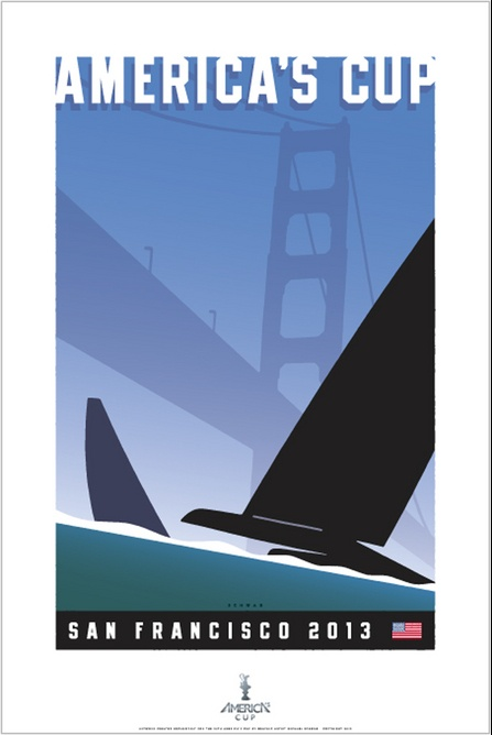 America's Cup - San Francisco 2013: poster by Michael Schwab