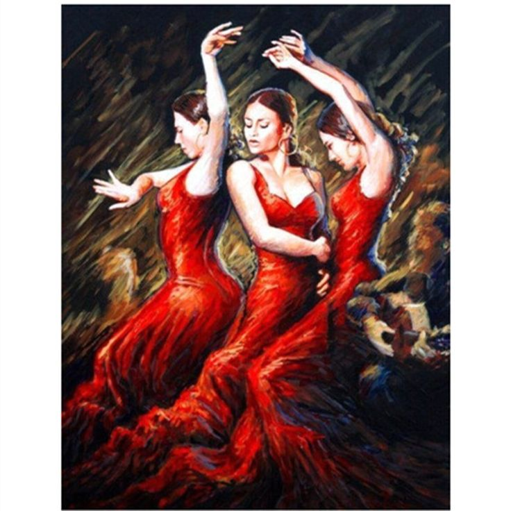 5d Diy diamond painting home decor painting 3d cross stitch embroidery kits diamond mosaic picture of rhinestones dancing girl