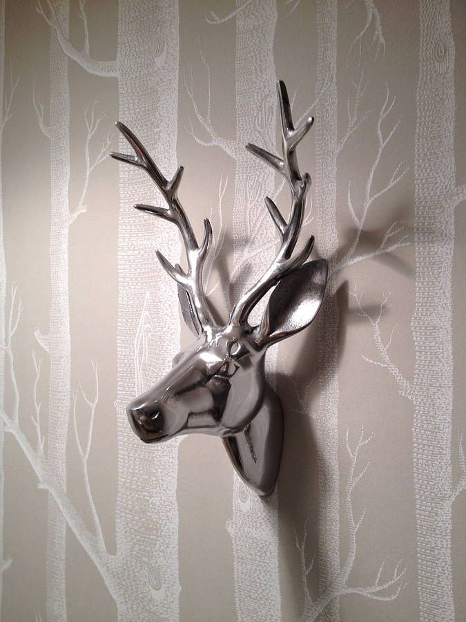 silver antler stags head by belle & thistle | notonthehighstreet.com