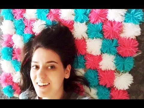 DIY: Tapete de pompons   Meliane Rotta - YouTube