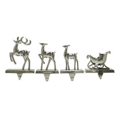 st nicholas square 4 pc reindeer sled stocking holder. Black Bedroom Furniture Sets. Home Design Ideas
