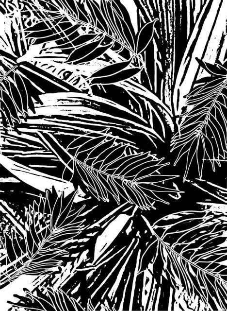 Sketch Graphic Design: Sketch surface pattern leaf jungle 1