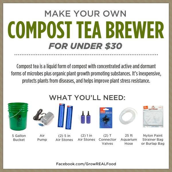 DIY Compost Tea Brewer for Under $30 - Grow REAL Food - Organic, Non-GMO Food in Your Backyard