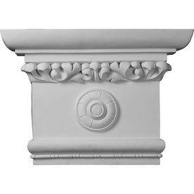 Ekena Millwork Victorian 24-In X 1.38-Ft Urethane Capital Entry Door C