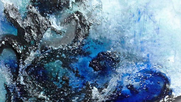 Blue Deep - Einfach Malen-Abstrakt,Struktur. Easy Painting-Abstract