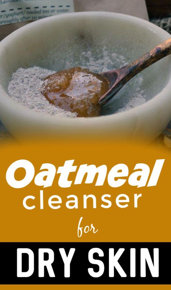 DIY Oatmeal Milk Cleanser for Winter Dry skin