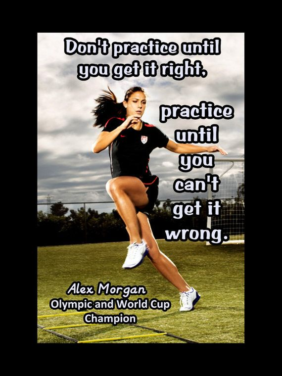 Soccer Poster Alex Morgan Olympic Champion Photo Quote by ArleyArt