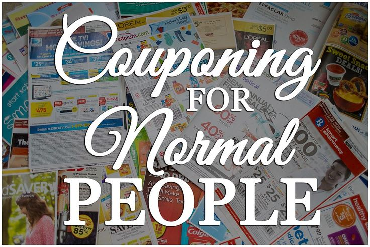 Couponing for Normal People- this is a great post for learning how to coupon successfully without going to extremes.