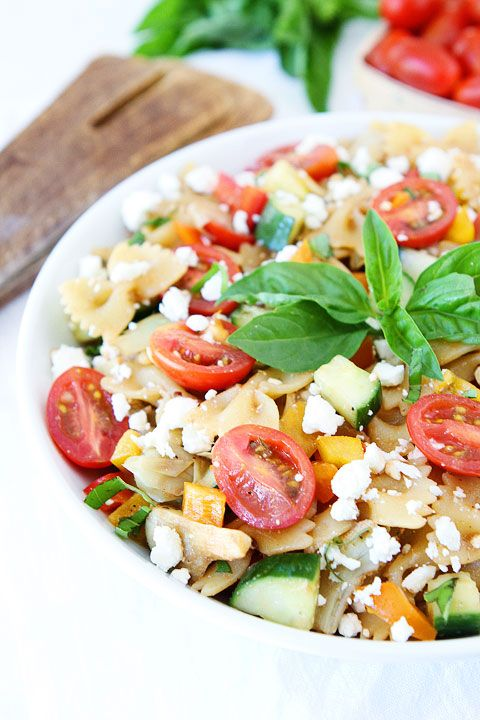 Easy Summer Pasta Salad Recipe on twopeasandtheirpod.com The perfect salad for all of your summer BBQ's and potlucks! #salad