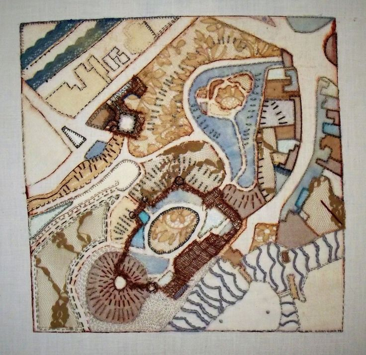 Map Of Paisley%0A Hand embroidered maps