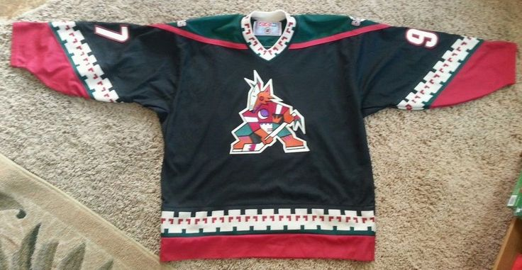 VTG PHX Coyotes Roenick Throwback Retro Masaka NHL Jersey Men's XL Multi-Color #CCM #PhoenixCoyotes