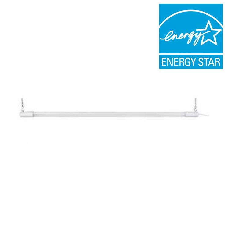 Commercial Electric 3 ft. White LED Shop Light Bar-54255141 - The Home Depot