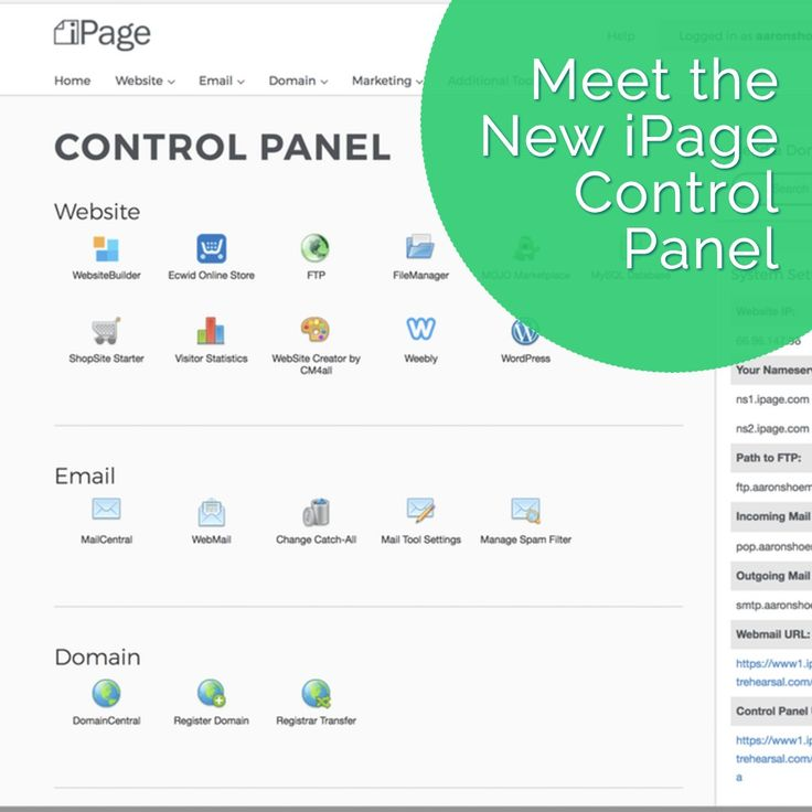 We are excited to introduce a new and improved Control Panel that makes iPage easier to use than ever! Login now and see the changes for yourself.
