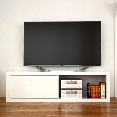 Artemis White High Gloss TV Stand