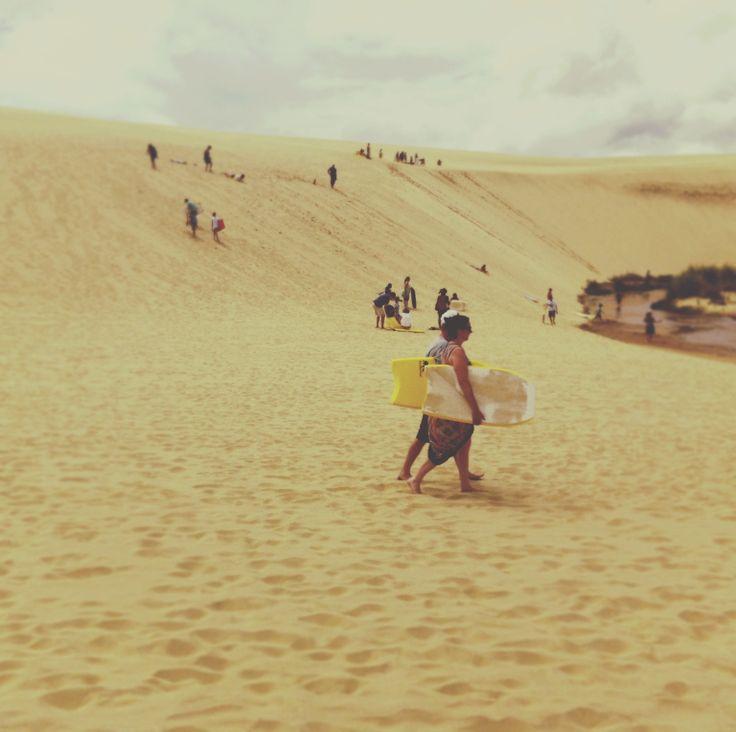 sand surfing, far north...new zealand  90 mile beach