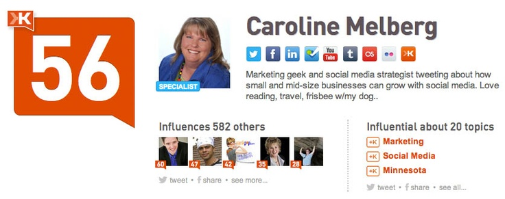 @caroline k. Mehlberg: Marketing geek and social media strategist tweeting about how small and mid-size businesses can grow with social media. Love reading, travel, frisbee w/my dog..