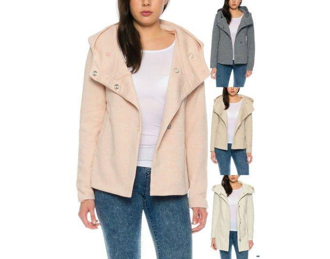 Only Damen Jacke OnlFairy Mel Hooded XS XL Geknöpft Mit Kapuze ,Größe: S,  Farbe: Hellgrau Jetzt Bestellen Unter: ...