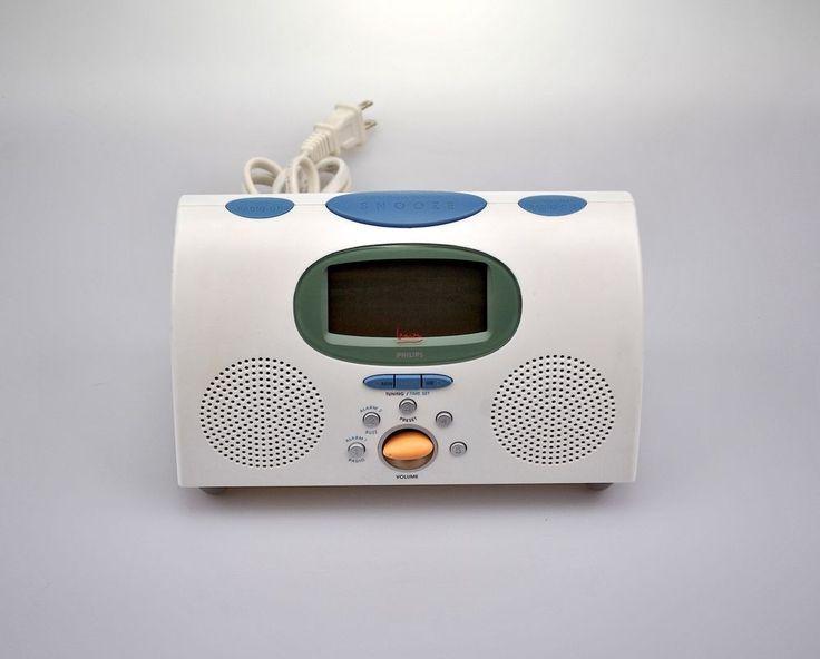 Michael Graves Design Philips White Digital Alarm Clock AM/FM Radio Architecture #Philips #Contemporary