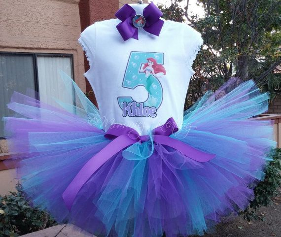The Little Mermaid princess Ariel tutu set 3 by MommiesKreationz, $13.75