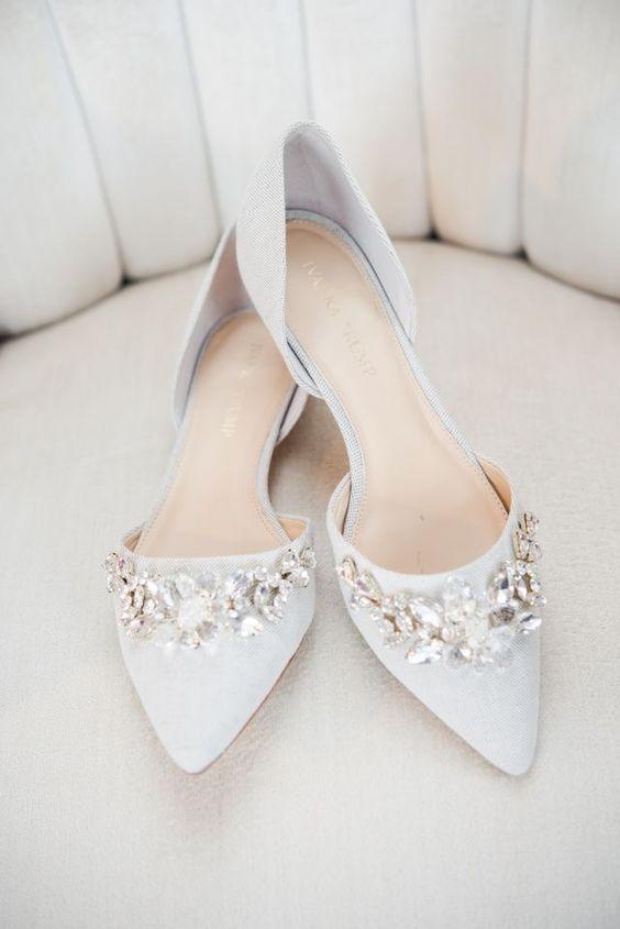 a5c6e0a733e 25 Gorgeous Embellished Wedding Shoes Ideas   Wedding Shoes ...