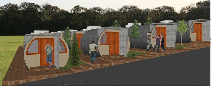 propuesta residencial estudiantes con tubos hormigon d=3000