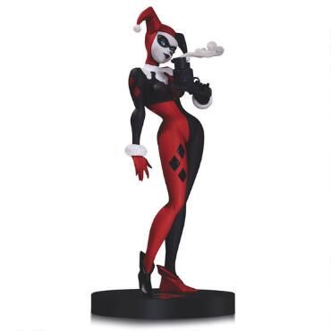 Miss me, puddin'? The Clown Princess of Crime is captured in this statue in the style of her co-creator and legendary animator, Bruce Timm.