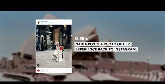 オペラハウスを外から眺めている人を中に招き入れることに成功した、Instagramダイレクト応答施策→位置情報を取得し、ダイレクトに「舞台の衣装を着てみない?」とお誘いする