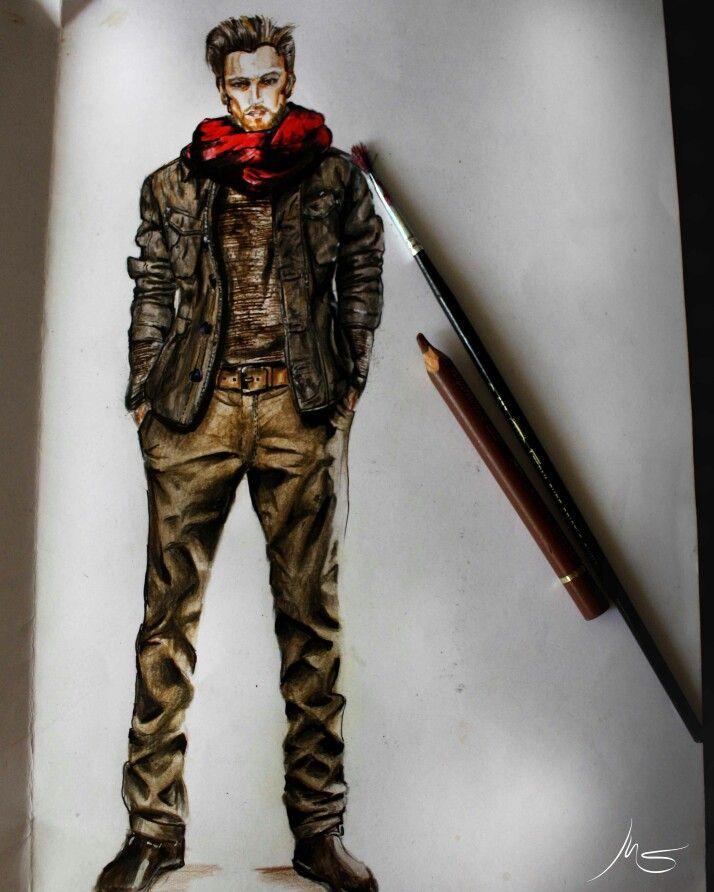 Ilustration by Manuel Salvador . Chilean Fashion Designer