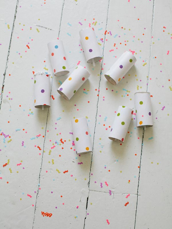 Push-up confetti launchers - perfect for New Years!