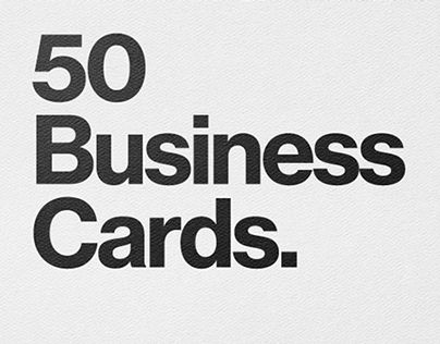 """Check out this @Behance project: """"50 Business Cards"""" https://www.behance.net/gallery/19795069/50-Business-Cards"""