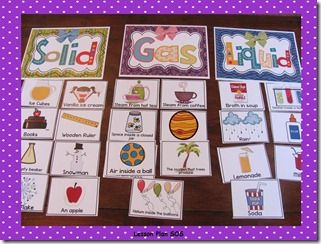 Liquids, Solids, Gases, Oh My! Sort Activity