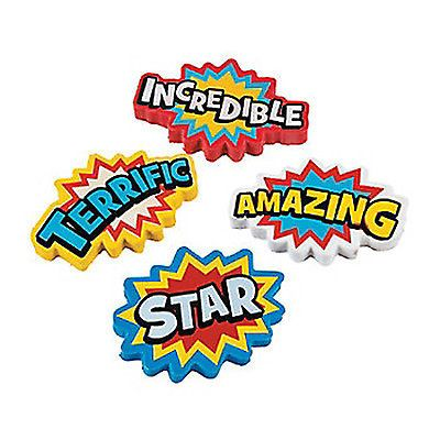 SUPERHERO-PARTY-Large-Erasers-Pencil-Eraser-Rubbers-Pack-of-4
