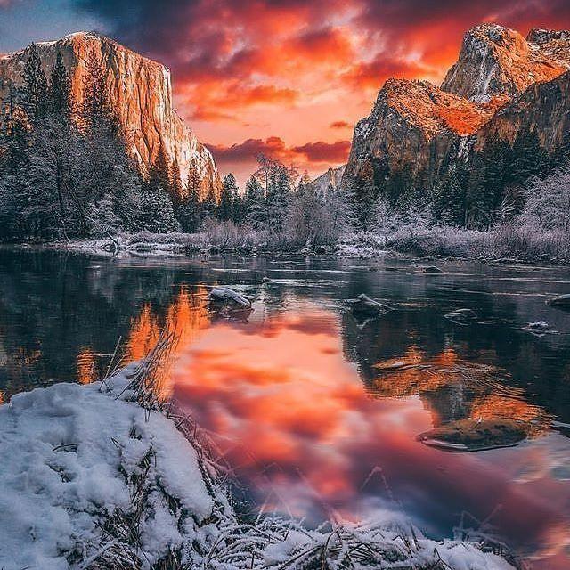 Йосемитский национальный парк   штат Калифорния   США. Ставь лайк Комментируй Подпишись на нас☑ Национальный парк расположен в округах Мадера, Марипоса и Туолумне штата Калифорния, США. находится на западных склонах горного хребта Сьерра-Невада. Славится своими ландшафтами и природой: впечатляющие гранитные скалы, водопады, реки с чистой водой, рощи секвойядендронов и богатое биологическое разнообразие (около 89 % парка считается зоной дикой природы). . —•—•—•—•—•—•—•—...