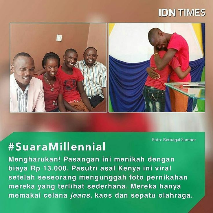 #Pasangan #kekasih dari Kenya mendapat banyak perhatian di media sosial sesaat setelah mereka menggelar pernikahannya yang hanya menghabiskan Rp 13.000. ----- Wilson (27) dan Ann Mutura (24) telah mengenal satu sama lain dan menjadi kekashi lebih dari 3 tahun. Akan tetapi, keinginan mereka untuk menikah pada 2016 terpaksa tertunda hingga dua kali. ----- Penundaan tersebut karena mereka diwajibkan membayar biaya #pernikahan sebesar 300 dollar AS (sekitar Rp 4 juta). ----- Dulu, mereka sempat…