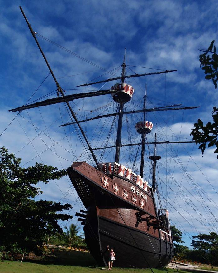 Réplica da Nau Capitania de Cabral, no Memorial do Descobrimento, em Porto Seguro, Bahia.