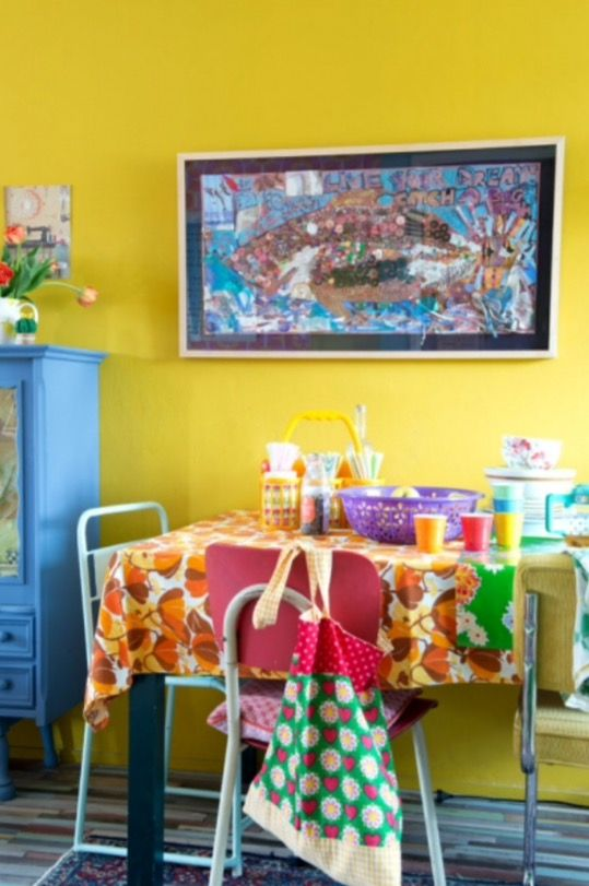 """This vintage dining area is from our feature """"Spicy Ingredients"""""""