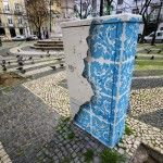 Ceramic Tile Illusion Painted on a Boring Electrical Box in Lisbon