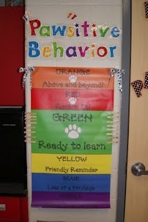 First Grade Pawsitive Behavior Chart: Classroom Discipline