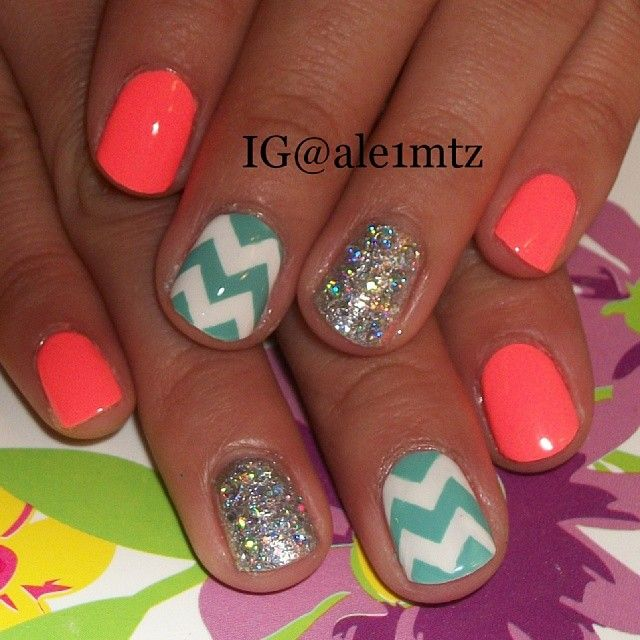 China Glaze Flip Flop Fantasy, For Audrey chevron nails, nail art
