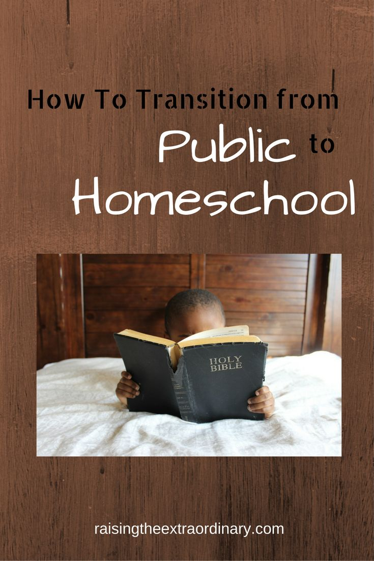 how do I go from public school to homeschool