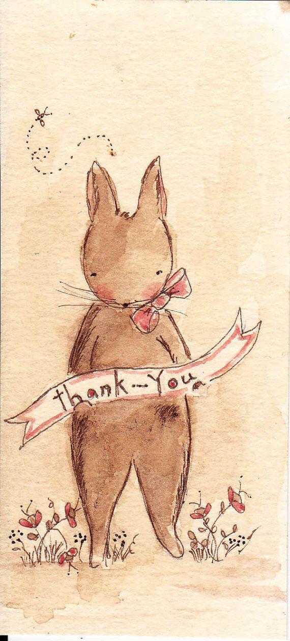 Sweet thankyou by kryskirkpatrick on Etsy, $28.00