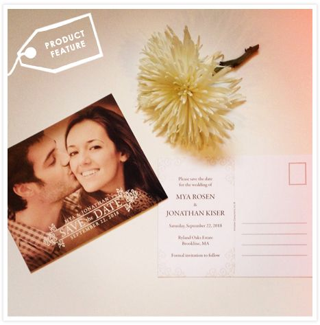 Product Feature: Save the Date Postcards